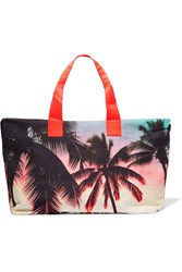 Samudra Lost In Paradise Printed Cotton Canvas Holdall Pink