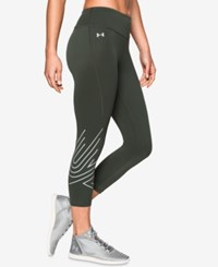 Under Armour Fly By 2.0 Compression Graphic Capri Leggings Combat Green