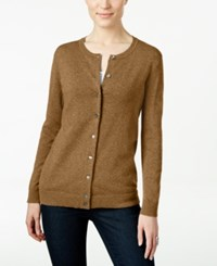 Karen Scott Long Sleeve Sweater Cardigan Only At Macy's Chestnut Heather