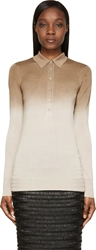 Burberry Beige Dip Dyed Silk Polo