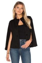 Velvet By Graham And Spencer Cambree Long Sleeve Cape Black