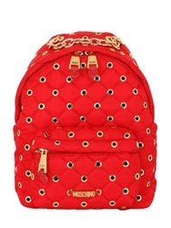 Moschino Small Eyelets Quilted Nylon Backpack