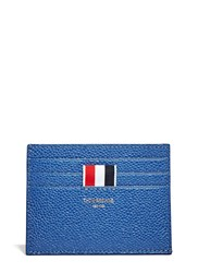 Thom Browne Pebbled Leather Card Holder Blue