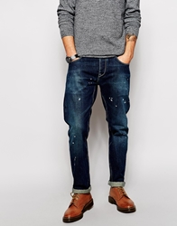 Asos Straight Jeans In Selvedge Blue