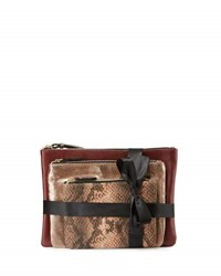 Neiman Marcus Triple Travel Pouch Set Multi