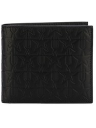 Givenchy Star Embossed Bill Fold Wallet Black