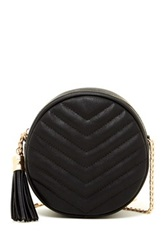 Urban Expressions Eliza Quilted Circle Crossbody Black