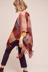Anthropologie Woodsmoke Plaid Scarf Red