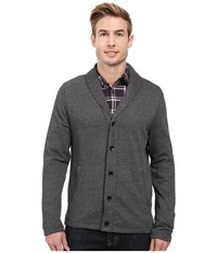 Perry Ellis Shawl Button Front Cardigan Black Men's Sweater