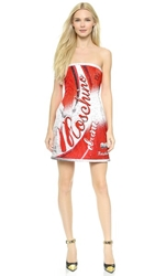 Moschino Soda Strapless Dress Multi