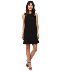 Adrianna Papell Chemical Lace Trapeze Dress Black Women's Dress