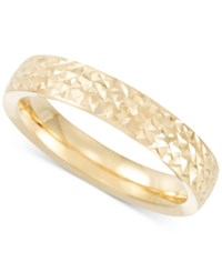 Macy's Textured Band In 14K Gold Yellow Gold