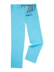 Oscar Jacobson Greg Straight Leg Chino Aqua