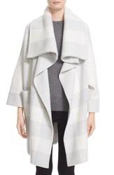 Burberry Women's Brit Check Wool Blend Sweater Jacket Natural White