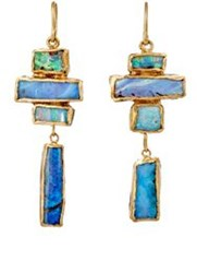 Judy Geib Women's Opal Totem Drop Earrings Colorless