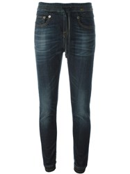 R 13 R13 Drawstring Waist Tapered Jeans Blue