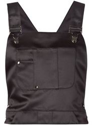 Koonhor Satin Dungaree Top Black