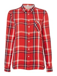 Long Sleeve Check Shirt Red