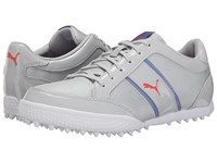 Puma Monolite Cat Mesh Gray Violet Bleached Denim Cayenne Women's Golf Shoes