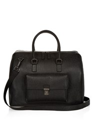Salvatore Ferragamo Leather Holdall Black