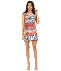 Kas Karna Pleated Printed Dress Multi Women's Dress