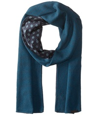 Ted Baker Mondee Woven And Knitted Scarf Navy Scarves