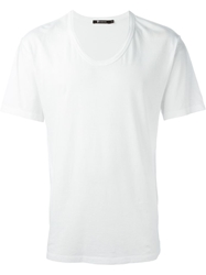 T By Alexander Wang Low Neck T Shirt White