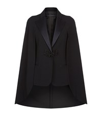 Elie Saab Cape Detail Jacket Female Black