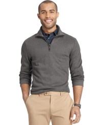 Van Heusen Spectator 1 4 Zip Sweater Black Heather