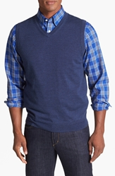 Nordstrom Merino Wool Vest Indigo Heather