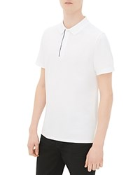 Sandro Knit Slim Fit Polo White