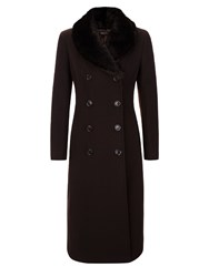 Precis Petite Long Wool Coat Brown