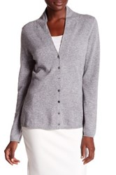 In Cashmere V Neck Cardigan Gray