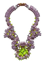 Kirsty Ward Pink And Yellow Statement Necklace