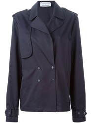 Wanda Nylon Wanda Nylon X Tom Greyhound Short Trench Coat Blue