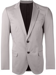 Msgm Casual Two Button Blazer Grey