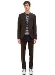 Marni Two Piece Slim Suit Brown
