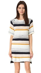 Tularosa Maci Knit Dress Mixed Stripe