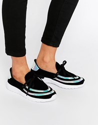 Y R U Yru Beem Hologram Trainers Black