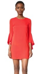 Milly Bell Sleeve Dress Flame