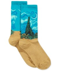 Hot Sox Women's Wheat Field With Cypress Socks Teal