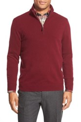 John W. Nordstrom Quarter Zip Cashmere Sweater Regular And Tall Purple