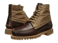 Timberland Authentics Leather And Fabric Chukka Medium Brown Full Grain Wax Canvas Men's Lace Up Boots