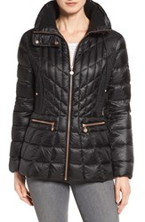 Bernardo Women's Packable Jacket With Down And Primaloft Fill Black Black