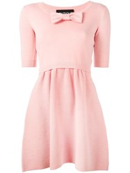 Boutique Moschino Front Bow Dress Pink Purple