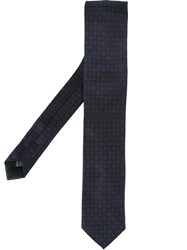 Dolce And Gabbana Embroidered Tie Blue