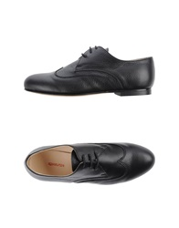 Rosamunda Lace Up Shoes Black