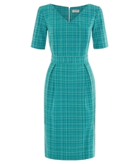 People Tree Kitty Fitted Dress Green