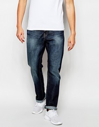 New Look Faded Straight Fit Jean Navy