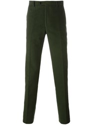 Massimo Piombo Mp Moleskine Tailored Trousers Green